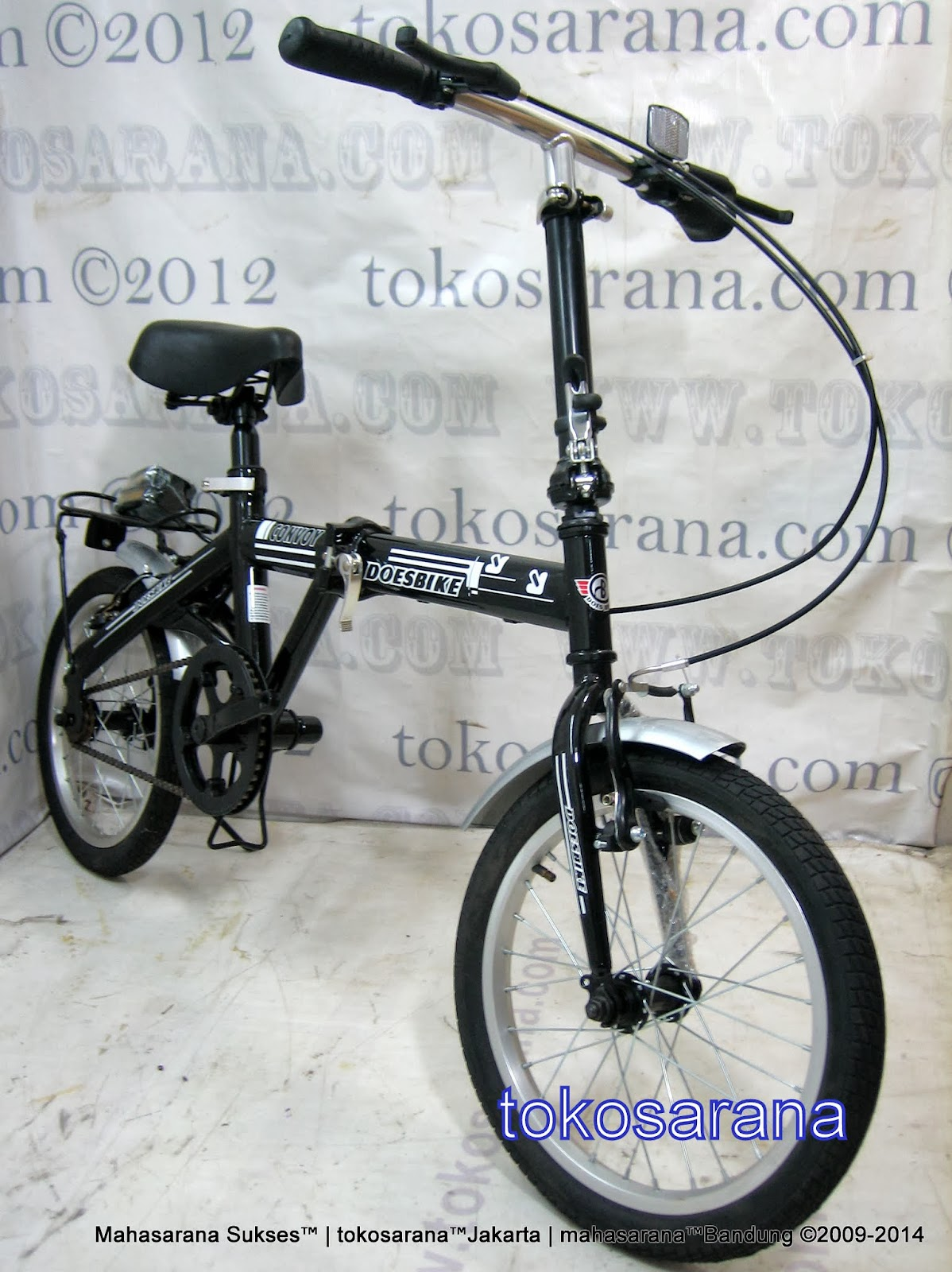 16 Inch DoesBike 1601 Convoy Folding Bike with Carrier 2