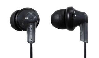 Panasonic RPHJE120K In-Ear Headphone, Black
