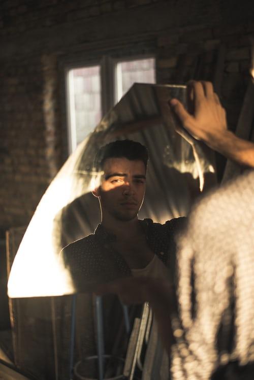 Pose by a Broken mirror