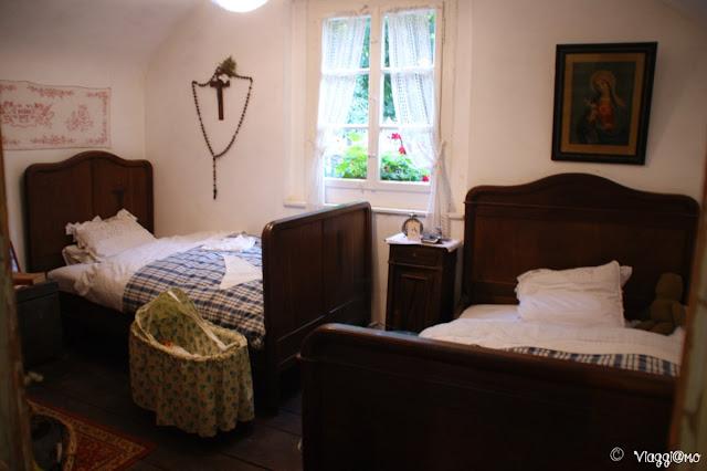 L'interno e gli arredi di un abitazione dell'Ecomuseo d'Alsazia