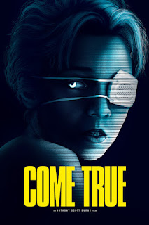 Film poster - stylized face wearing an eye patch