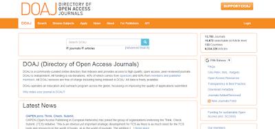 website jurnal internasional DOAJ