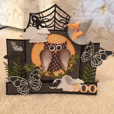 center step card for halloween