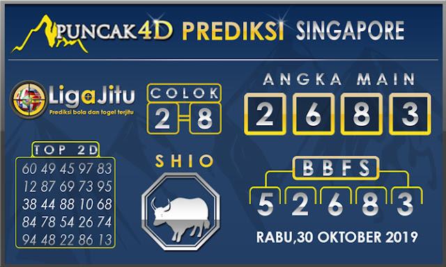 PREDIKSI TOGEL SINGAPORE PUNCAK4D 30 OKTOBER2019