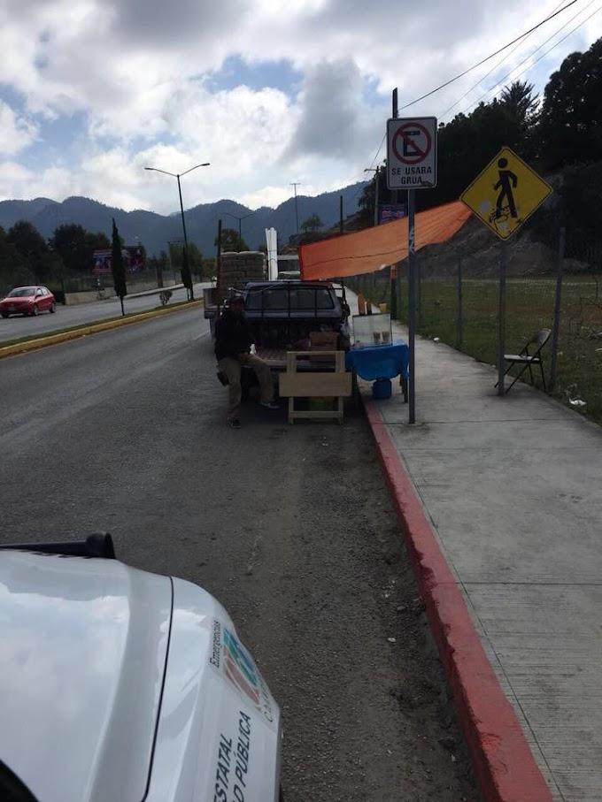Tras denuncia ciudadana, intervienen autoridades municipales y levantan puesto ambulante instalado en pleno Boulevard...tu denuncia es importante