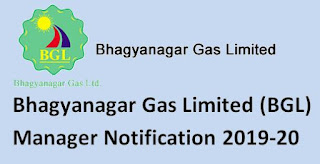 Bhagyanagar Gas Limited (BGL) Manager Notification 2019-20