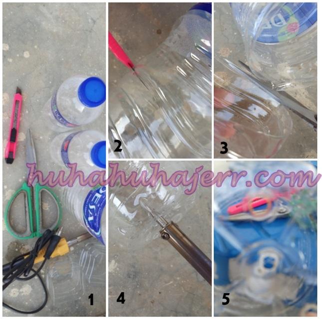 Step By Step Buat Botol Plastik Jadi Pasu Tanam Sayur