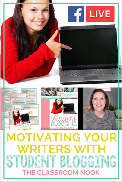 Learn how to use student blogging in the classroom to help motivate even the most reluctant writers in your classroom.  This post includes a free video workshop and a free teacher guide download to help you get started.