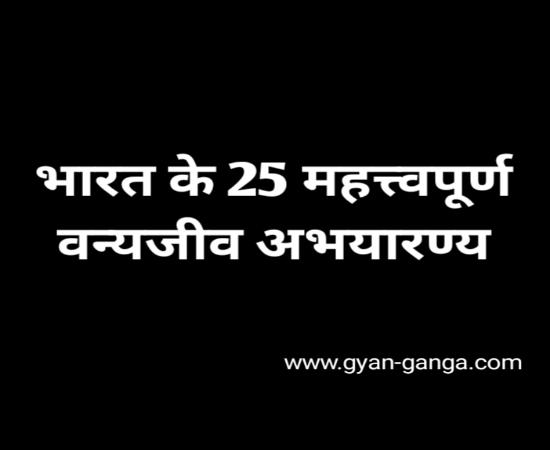 Top 25 wildlife sanctuary in India in Hindi