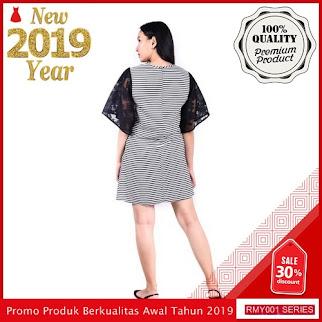 RMY038J40 Jeje Casual Dress Salur Keren Tangan Brukat BMGShop