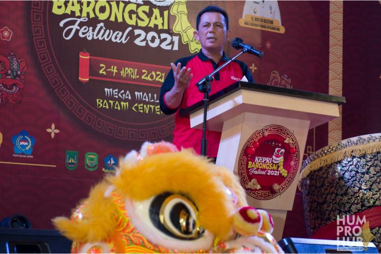 Gubernur Kepri Membuka Festival Barongsai 2021