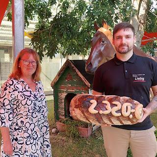 August Spende der Bäckerei Ihr guter Liebig aus Pfungstadt an den Tierschutzverein Pfungstadt und Umgebung e.V.
