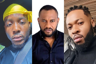 #EndSARS: Yul Edochie, Flavour, Phyno, Kcee And Zoro Lead Protest To SARS Head Office In Awkuzu, Anambra State (VIDEOS)