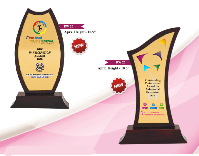 Promotional Wooden Trophy Corporate Manufacturers Delhi