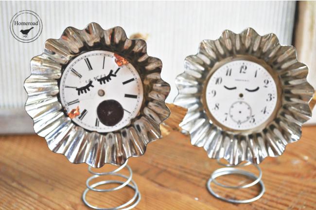 2 clock faced ornaments