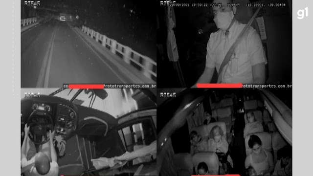 Câmeras de segurança mostram momento do acidente entre ônibus e caminhão que deixou 12 mortos no sul da Bahia; assista