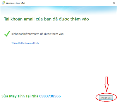 Cấu hình windows live mail 2012 - H09