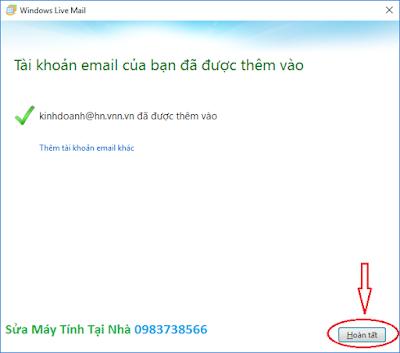 Cấu hình windows live mail 2012 - H09