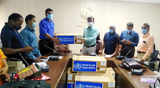 डब्लूएचओ ने स्वास्थ्य विभाग को दिया 3600 मास्क  | #NayaSaberaNetwork