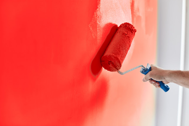 Roller Paint with red color