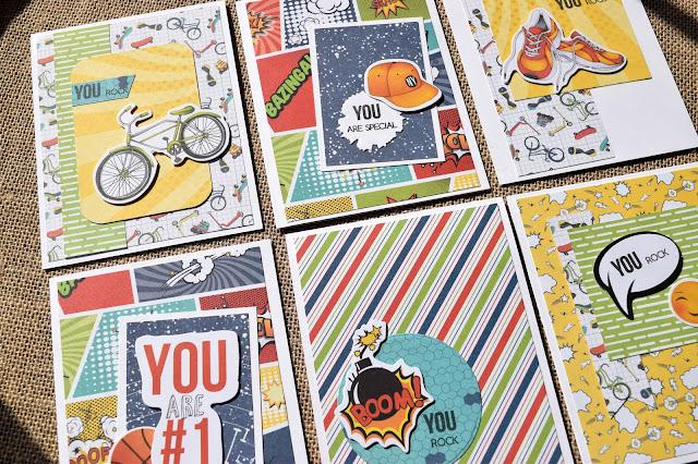 Teen Boy Cards with Fabrika Decoru Cool Teens Kit
