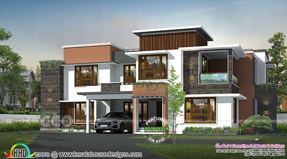 Modern contemporary style house rendering