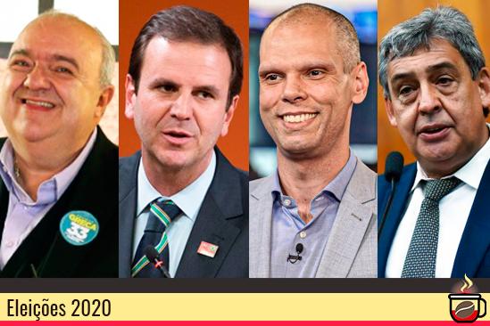 Rafael Greca, Eduardo Paes, Bruno Covas e Sebastião Melo. Café com Jornalista
