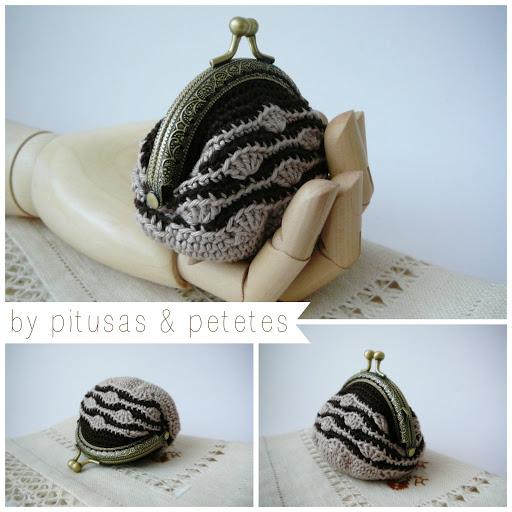 crochet coin purse + diagrams + free pattern