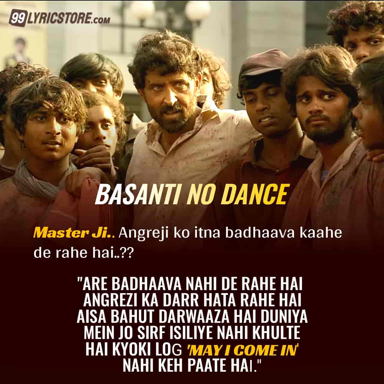 Basanti No Dance Hindi songs Lyrics from movie Super 30
