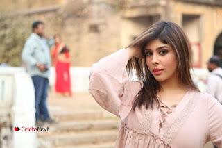 Telugu Actress Aditi Singh Stills in Leather Pants at Nenu Kidnap Iyanu Movie Press Meet  0257.JPG