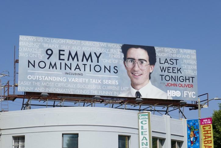 Last Week Tonight John Oliver season 7 Emmy nominee billboard