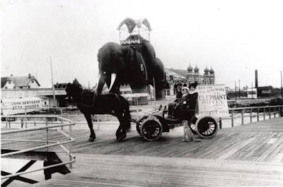 Fotografía del original edificio Lucy el Elefante de Atlantic City