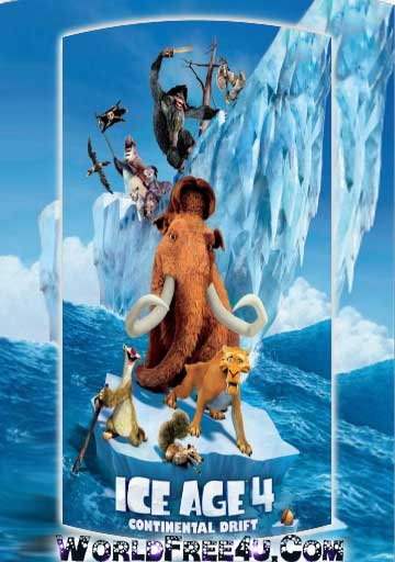 Poster Of Ice Age 4 (2012) In Hindi English Dual Audio 300MB Compressed Small Size Pc Movie Free Download Only At worldfree4u.com