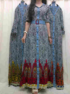 Maxi Katun Combi Jeans fit to L