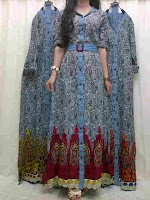 Maxi Katun Combi Jeans KD290047 SOLD OUT