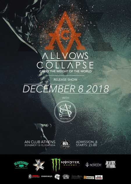 ALL VOWS COLLAPSE: Σάββατο 8 Δεκεμβρίου @ An Club