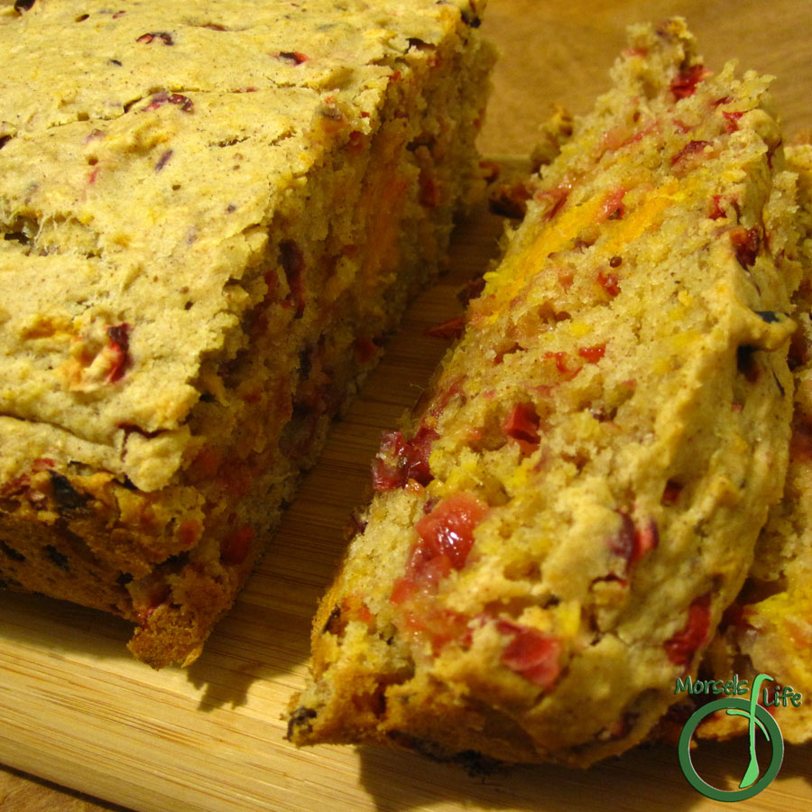 Morsels of Life - Cranberry Sweet Potato Bread - A sweet and tangy quick bread with cranberries and sweet potatoes.