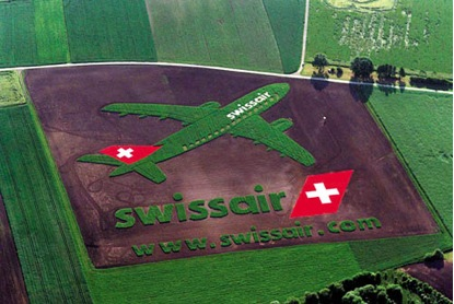 swissair worlds largest ad