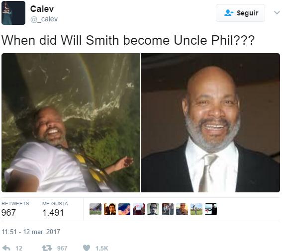 Will Smith luce igual al tío Phil del Príncipe del Rap