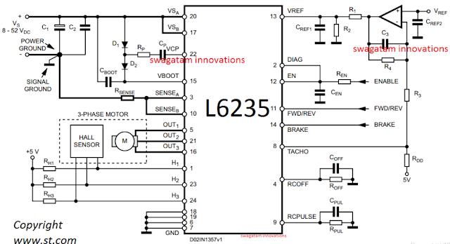50v 3 phase bldc motor driver circuit electronic circuit for Bldc motor driver circuit