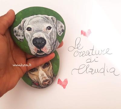 sassi dipinti prezzi cani