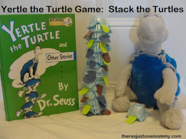 Dr Seuss Activities for Toddlers - Yertle the turtle activity