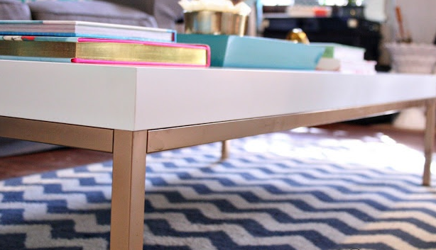 Ikea Klubbo White Coffee Table