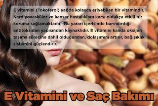 E Vitamini ve Saç Bakımı