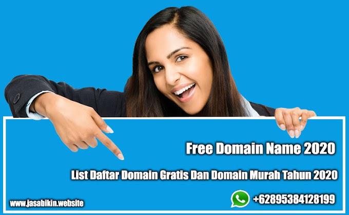 Nama Domain Gratis 2020 | Daftar Free Domain 2020