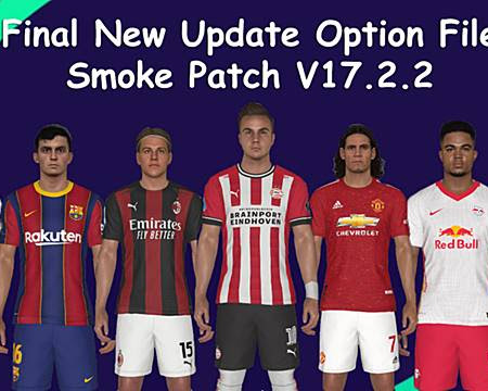 PES 2017 Option File For Smoke Patch 17.2.2