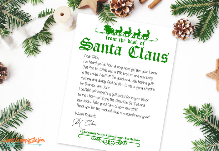 Printable Santa Stationery