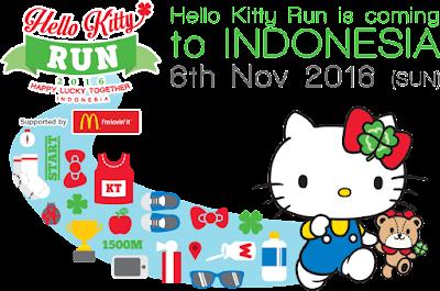 Hello Kitty Run 2016 Tangerang Selatan AEON Mall BSD City Bumi serpong damai