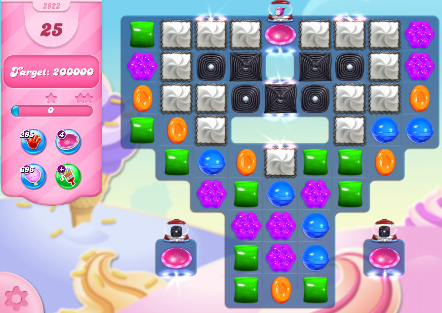 Candy Crush Saga level 2922