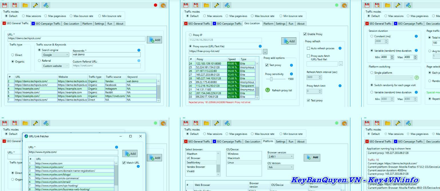Download và hướng dẫn Website Auto Traffic Generator Ultimate 7.3 Full Key, Đưa trang web của bạn lên đầu Kết quả của Công cụ tìm kiếm.
